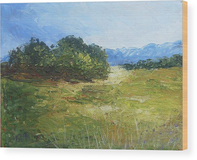 Wood Print featuring the painting Summer Day by Tami Booher