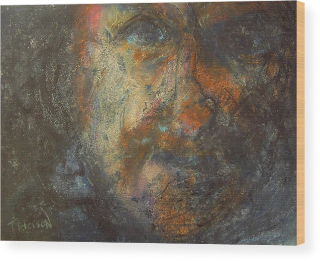 Painting Wood Print featuring the painting The Edge by Todd Peterson