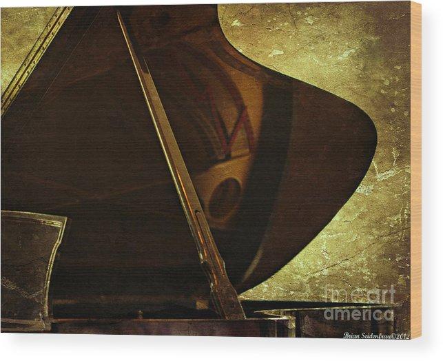 Piano Wood Print featuring the photograph The Recital by Brian Seidenfrau