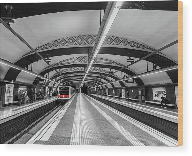 Train Wood Print featuring the photograph Train by Sergey Simanovsky