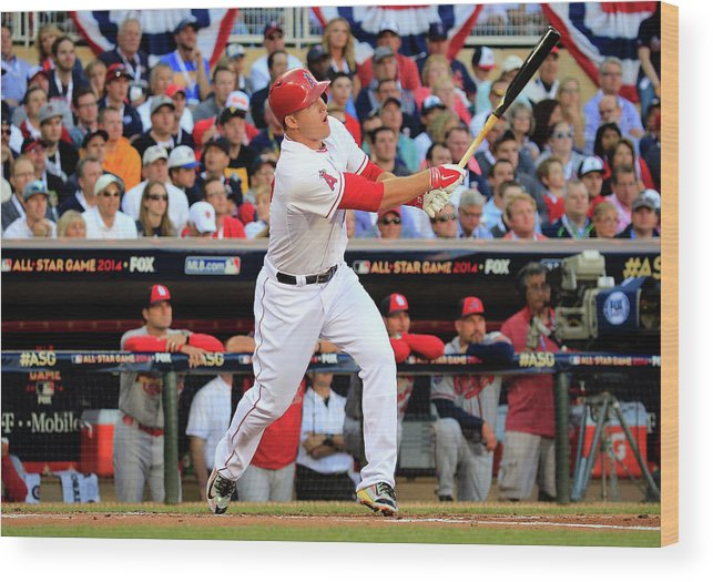 People Wood Print featuring the photograph 85th Mlb All Star Game 9 by Rob Carr