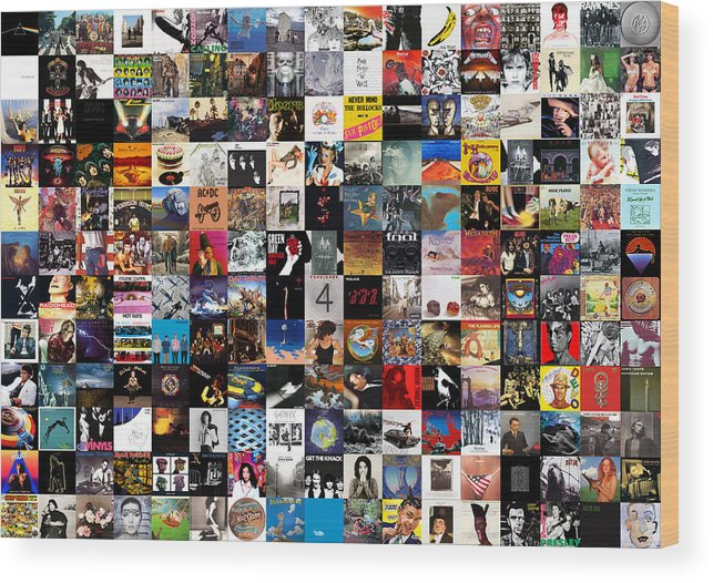 Album Covers Wood Print featuring the digital art Greatest Album Covers Of All Time by Zapista Zapista
