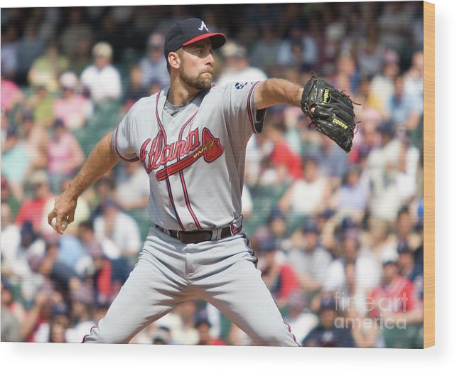 People Wood Print featuring the photograph John Smoltz by Icon Sports Wire