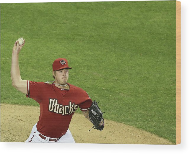 Relief Pitcher Wood Print featuring the photograph Addison Reed by Christian Petersen