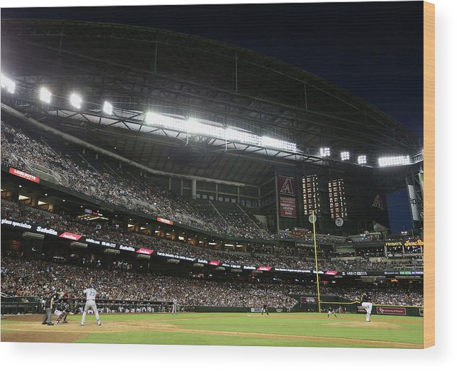 Relief Pitcher Wood Print featuring the photograph Adrian Gonzalez by Christian Petersen