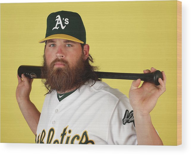 Media Day Wood Print featuring the photograph Derek Norris by Christian Petersen
