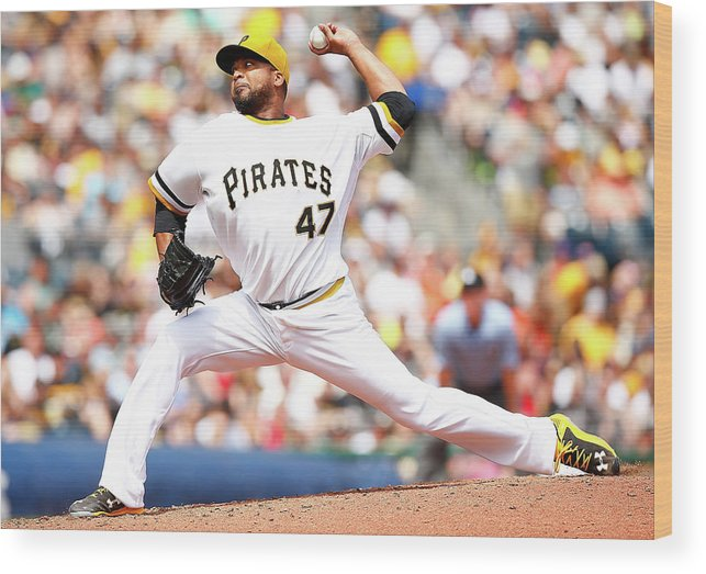 People Wood Print featuring the photograph Francisco Liriano by Jared Wickerham
