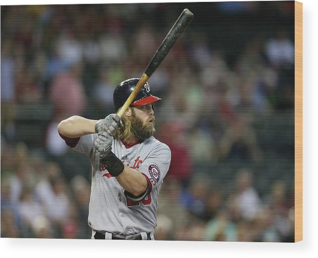 National League Baseball Wood Print featuring the photograph Jayson Werth by Christian Petersen