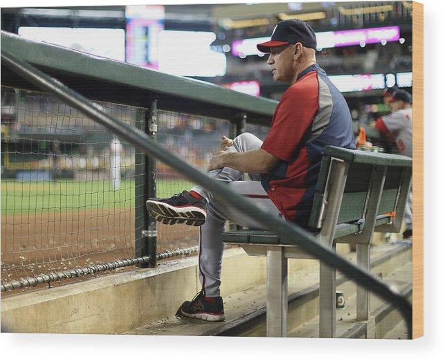 National League Baseball Wood Print featuring the photograph Matt Williams by Christian Petersen