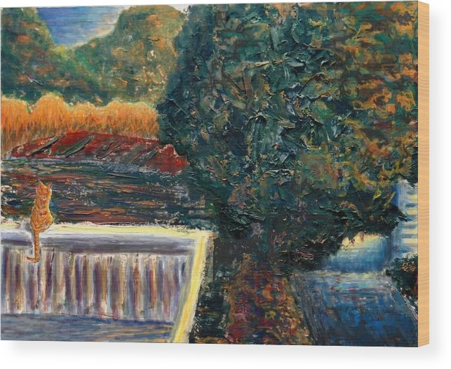 Oil Wood Print featuring the painting Last Rays by Cynthia Ann Swan