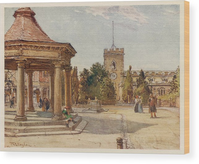 Enfield Wood Print featuring the drawing Enfield, Middlesex     Date 1907 by Mary Evans Picture Library