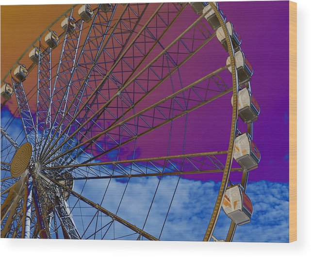 Ferris Wood Print featuring the photograph Ferris Wheel by Larry Helms
