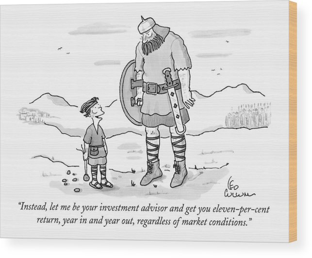 Vikings Wood Print featuring the drawing Instead, Let Me Be Your Investment Advisor by Leo Cullum