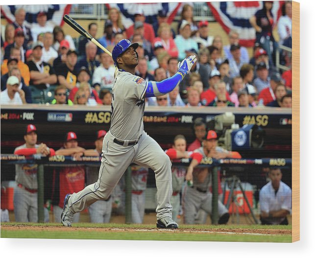 American League Baseball Wood Print featuring the photograph 85th Mlb All Star Game 5 by Rob Carr
