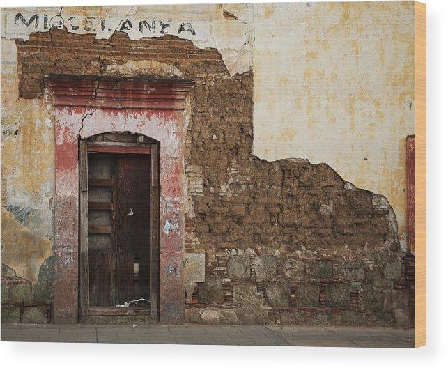 Door Wood Print featuring the photograph A Door by Glenn Jenks