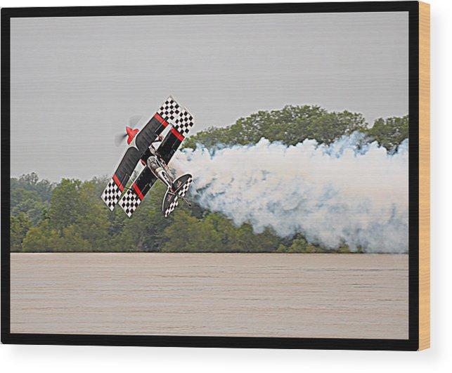 Aerobatic Wood Print featuring the photograph Aerobatic Plane by Noel Pennington