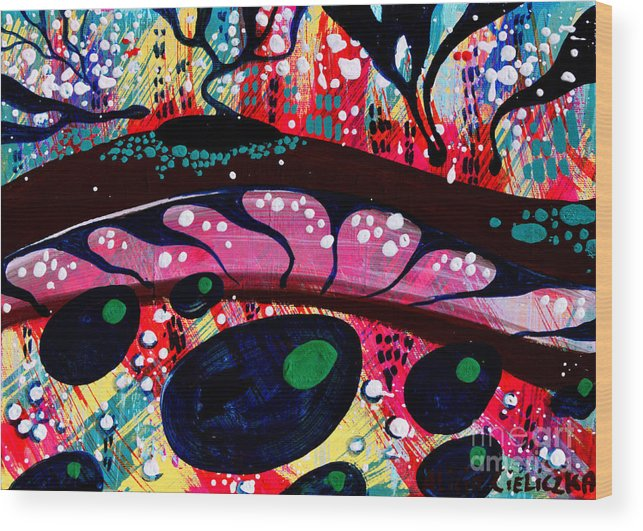 Painting Wood Print featuring the painting Agosto by Alice Alicja Cieliczka
