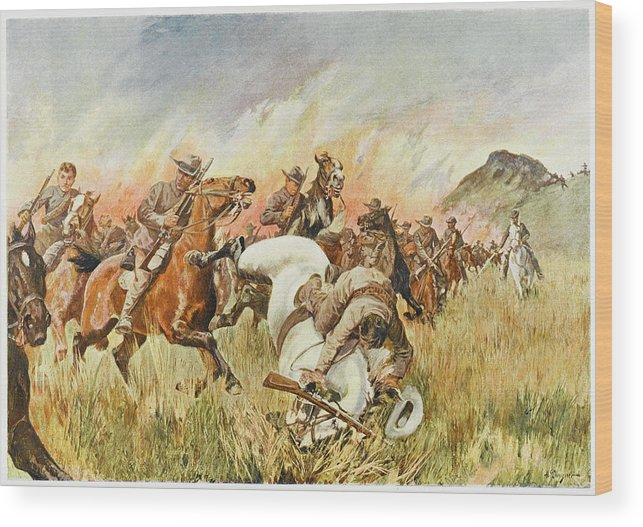Battle Wood Print featuring the drawing Biddulphsberg A British Cavalry Force by Mary Evans Picture Library