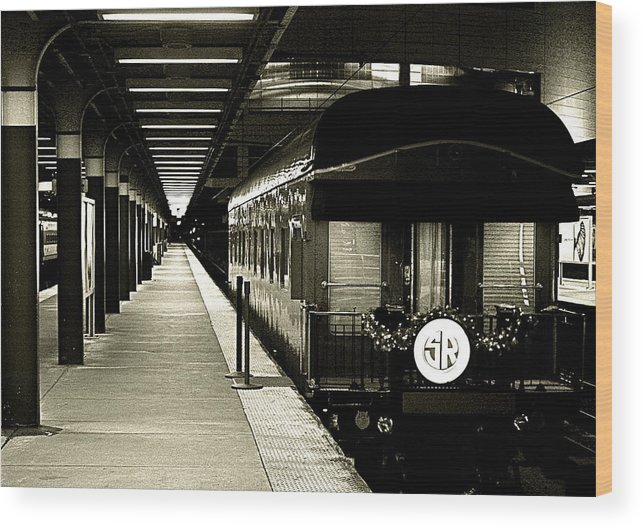 Wood Print featuring the photograph Boston South Station Old Train by Natalia Radziejewska
