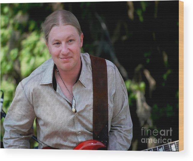 Music Wood Print featuring the photograph Derek Trucks by Angela Murray