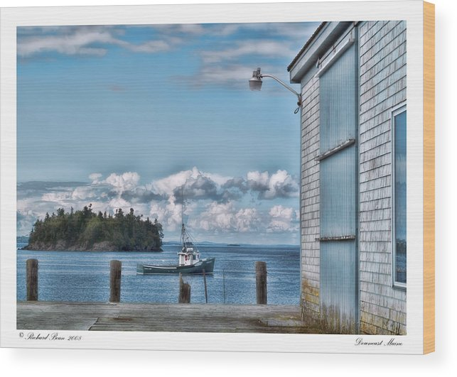 Architectural Wood Print featuring the photograph Downeast Maine by Richard Bean