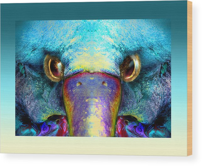 Wood Print featuring the digital art Duckeaglebird by Oliver Norden