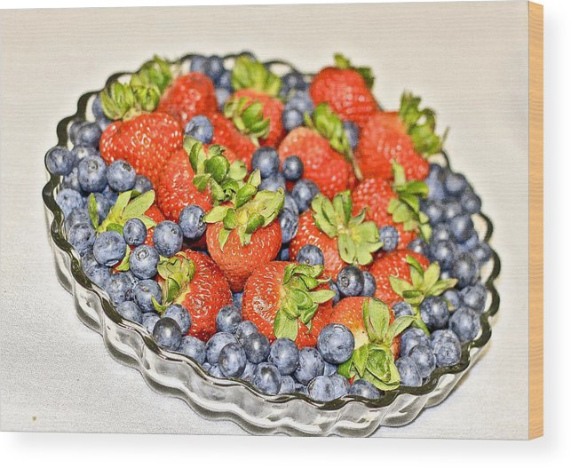 Blue Wood Print featuring the photograph Fruity Day by Jervon Salters