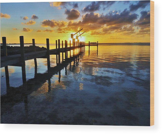 Florida Wood Print featuring the photograph Gulf Coast Sunset by Benjamin Yeager