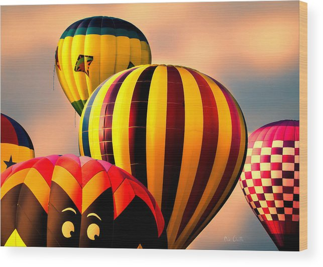 Hot Air Balloon Wood Print featuring the photograph I See You by Bob Orsillo