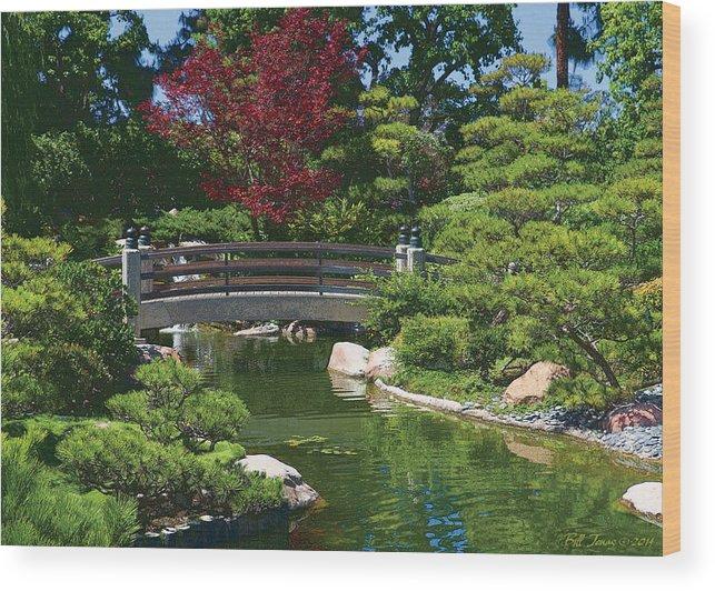 Bridge Wood Print featuring the photograph Japanese Bridge by Bill Jonas