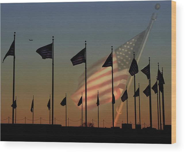 American Flag Wood Print featuring the photograph Let Freedom Ring by Lori Deiter