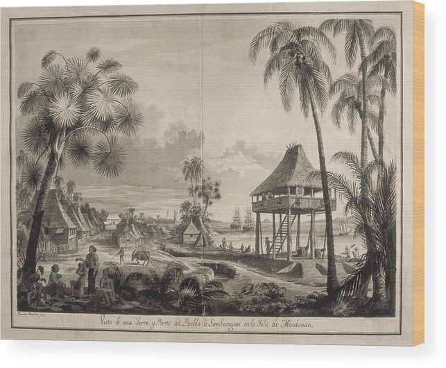 Horizontal Wood Print featuring the photograph Malaspina Expedition. Philippines 1792 by Everett