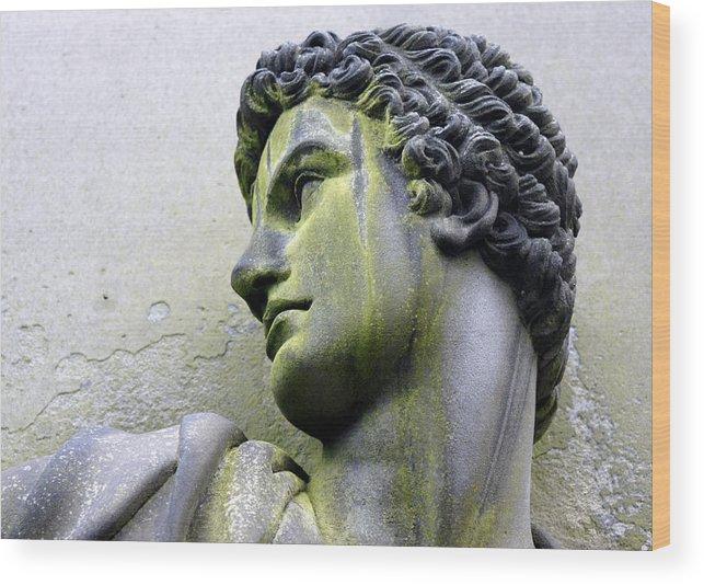 Part Of A Statue Wood Print featuring the photograph man by Jolly Van der Velden