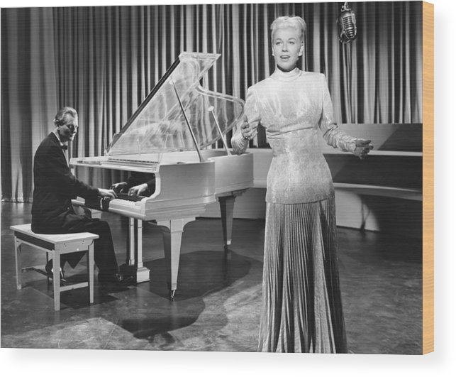 1940s Movies Wood Print featuring the photograph My Dream Is Yours, Doris Day, In A Gown by Everett