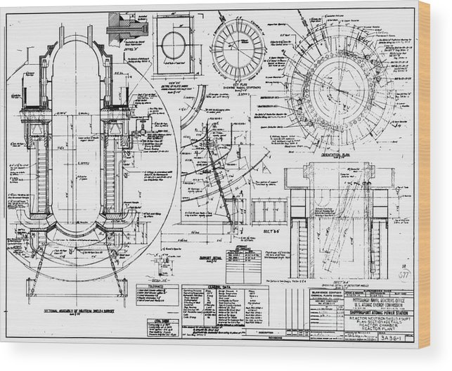 nuclear power plant components, diagram wood print by library of Nuclear Power Steam machine wood print featuring the photograph nuclear power plant components, diagram by library of congress