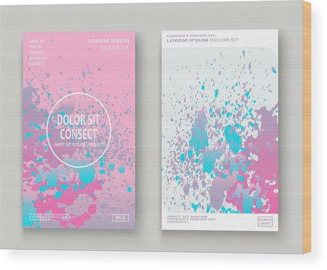 Pastel Pink Cyan Explosion Paint Splatter Artistic Cover Design  Fluid  Gradient Dust Splash Texture Background  Trendy Creative Template Vector  Cover