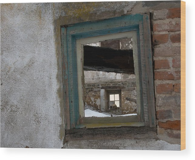 Window Wood Print featuring the photograph Picture Frame by Scott Hafer