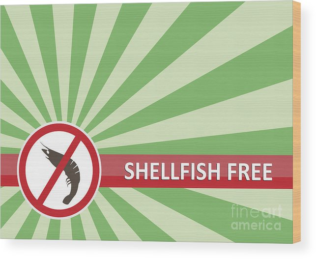 Product Wood Print featuring the photograph Shellfish Free Banner by Tim Hester