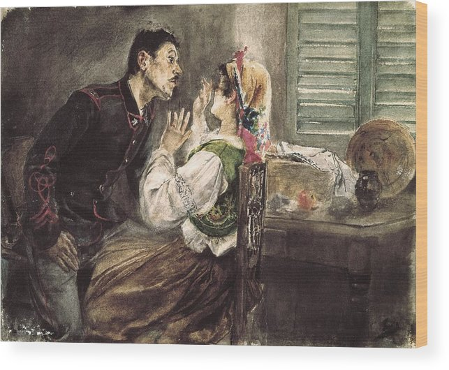 Horizontal Wood Print featuring the photograph Sorolla, Joaqu�n 1863-1923. Soldier by Everett