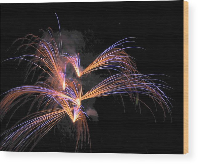 Fireworks Wood Print featuring the photograph Sparkle And Light by Tony Ambrosio