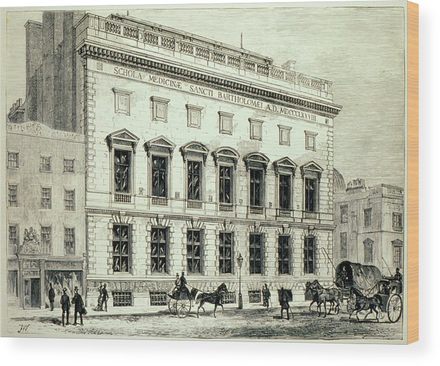 England Wood Print featuring the photograph St. Bartholomew's Hospital by St Bartholomew's Hospital/science Photo Library