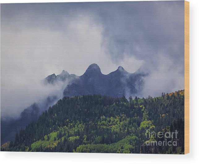 View Wood Print featuring the photograph Storm In The San Juan Mountains by Janice Pariza
