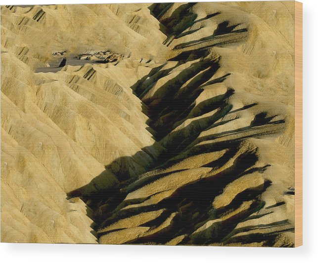Mountains Wood Print featuring the photograph The Black And The Gold by Bryan Shane