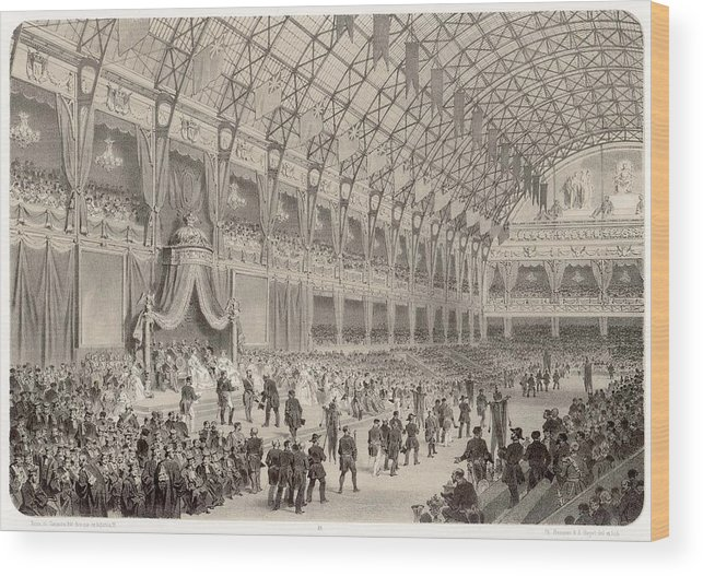 Closing Wood Print featuring the drawing The Closing Ceremony Of The Paris by Mary Evans Picture Library