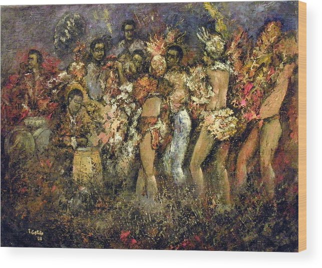 Tropicana Wood Print featuring the painting Tropicana Havana by Tomas Castano