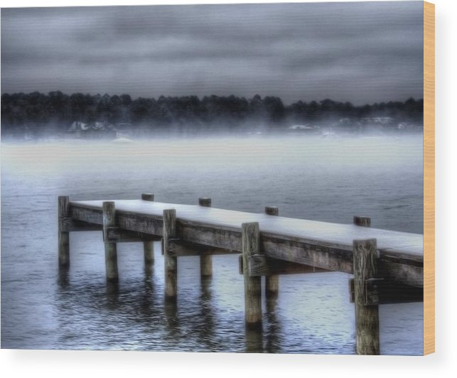 Winter Wood Print featuring the photograph Winter On A Texas Lake by Danny Pickens