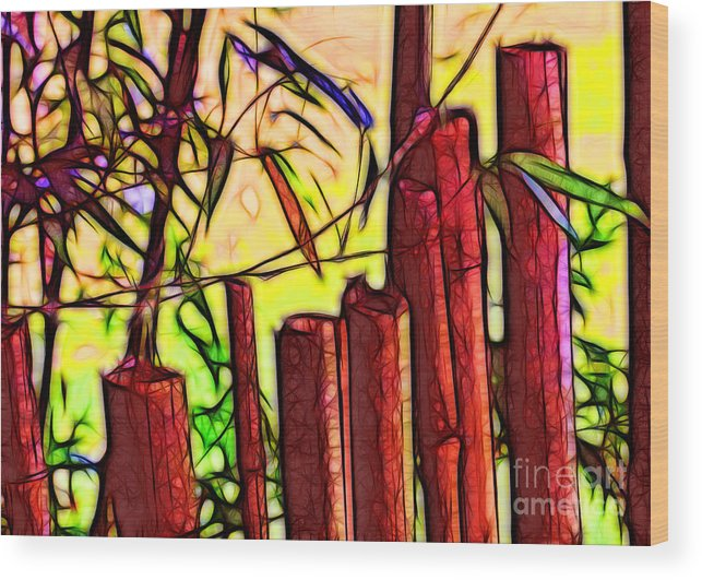 Bamboo Wood Print featuring the photograph Bamboo Wind Chimes by Judi Bagwell