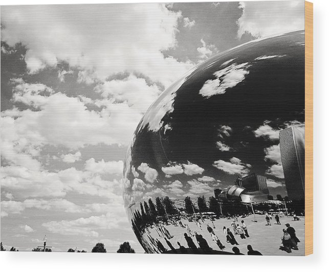 Bean Wood Print featuring the photograph Chicago's Cloud Gate by Laura Kinker