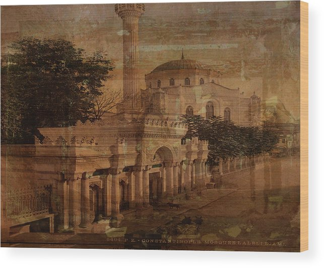 Constantinople Wood Print featuring the digital art Constantinople by Sarah Vernon