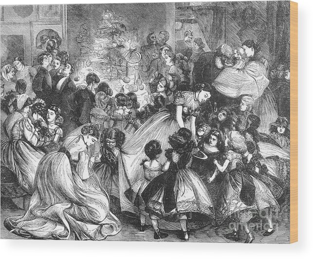 19th Century Wood Print featuring the photograph England: Christmas Party by Granger